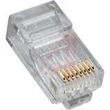 RJ45 Cat6 2 piece Round Solid 3 Prong Plug (8P8C) 25PK