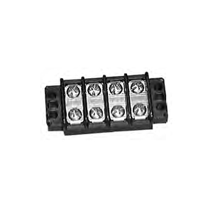 Heavy Duty 30 Amp Dual Row Terminal Block - 2 Pole Center Spacing: .437