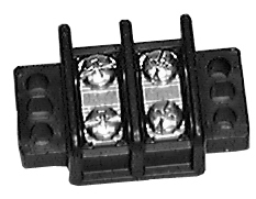 30 Amp Dual Row Terminal Blocks 2 POSITION Center Spacing: .562