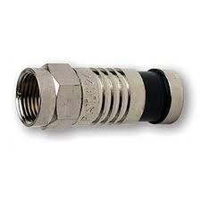 RG6 F-Type Nickel SealSmart Coaxial Compression Connectors 10PK