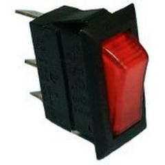 Lighted Snap-In Rocker Switch, SPST 15A @125V, ON-OFF
