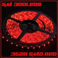LED 3528 600 LED RED NON WATER PROOF 5 METERS