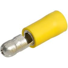 """SOLDERLESS TERMINALS., Male Bullet Plugs .195"""" 12-10AWG Insulated Handle {12PK}"""