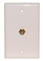 1 GOLD F WALL PLATE 3GHz WHITE