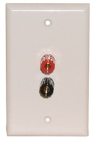 2 GOLD 5-WAY BINDIBG POST WALL PLATE WHITE