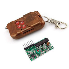 4CH IC 2262/2272 Key Wireless Remote Control Kits Receiver module for arduino