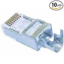 Shielded EZ-RJ45® for CAT5e & CAT6 with External Ground  10PK
