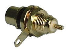 Connector, RCA Jack Panel Mt Teflon Insulator (2pk) R/B