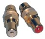 GOLD RCA BULKHEAD JACK 2/PKG RED/WHITE