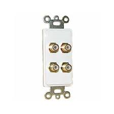 4 RCA {2R,2W} PLATE-WHITE FEED THRU