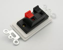 2 Heavy Duty Push-Type Terminals with White Insert Plate