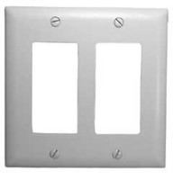 DOUBLE WALL PLATE WHITE