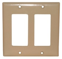 DOUBLE WALL PLATE IVORY