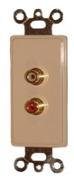 2 GOLD RCA FEED THRU PLATE-IVORY