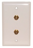 2 GOLD F WALL PLATE 3GHz WHITE