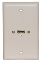 STD. WALL PLATE HDMI, SOLDERLESS - WHITE