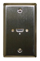 STD. WALL PLATE HDMI, SOLDERLESS - STAINLESS STEEL
