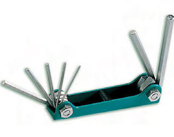 7 Piece Folding Hex Key Set