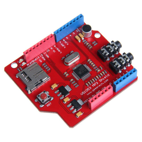 VS1053B MP3 shield board with TF card,SPI interface for Arduino MP3 AAC WMA MIDI
