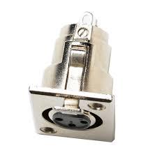 3 PIN XLR Connectors XLR (F) PANEL RECEPT {POMONA}