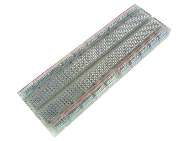 Breadboard 6.5 Inch X 2.2 Inch X 0.33 1 Terminal Strip 630 Tie Point and 2 Bus Strips 200 Tie Points